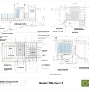 Lakeside Sauna Concept Plan With Elevations