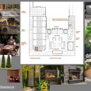 Colour final landscape plan for outdoor living space.