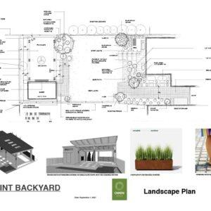 Final landscape plan for a Baby Point backyard.