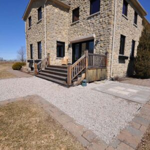 Before photo of Tuscan style country house.