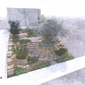 rock-garden-with-winding-path-built-on-slope