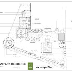 Final landscape plan for backyard in West Dean Park, Etobicoke.